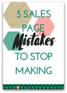 Sales Page Mistakes: Free Guide
