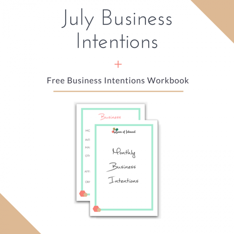 Monthly Business Intentions Worksheet