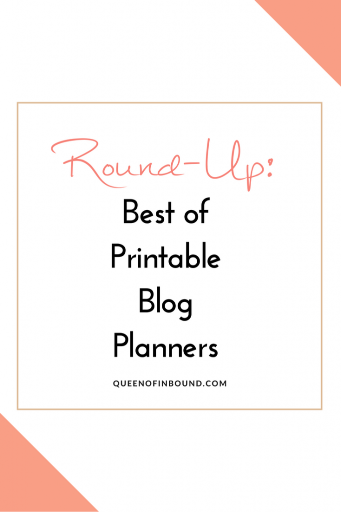 The best of all printable blog planners for bloggers to keep you organized on your content strategy.